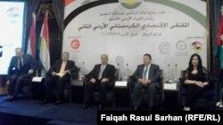 جانب من جلسات الملتقى الاقتصادي الكردستاني الأردني الثاني في عمّان