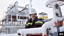 Новый Уренгойдағы газ өндірісі. 12 қараша 2008 жыл. (Көрнекі сурет)