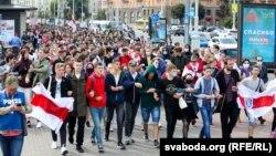 Всекидневните протести в Беларус започнаха след изборите за президент на 9 август