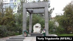 Новосибирск қаласындағы советтік репрессия құрбандары ескерткіші.