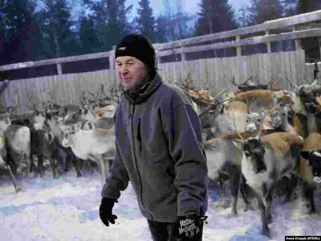 Kjell Joran Jama is the head of the Sami reindeer herders in the Snasa region. He still remembers the days after the Chernobyl disaster.