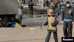 Місце вибуху в Харкові 22 лютого