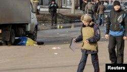 Місце вибуху в Харкові, 22 лютого 2015 року