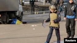 Милиция работает на месте теракта в Харькове