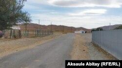 Қасқабұлақ ауылына кіретін жол. Талас ауданы, Жамбыл облысы. 12 тамыз 2020 жыл.