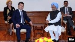 Премиерот Никола Груевски се сретна со неговиот индиски колега Манмохан Синг во Њу Делхи.