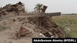 مخلفات حربية في منطقة شط العرب بالبصرة