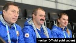 Віктар Лукашэнка (у цэнтры) наведаў Зімовыя юнацкія алімпійскія гульні ў Лязане, 20 студзеня