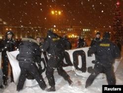 Minsk: Pamje nga protestat e dhjetorit 2010.