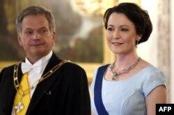Президент Финляндии Саули Ниинисто с супругой Дженни Хаукио