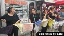 Aktivistkinje Žena u crnom na prosvjedu u Tuzli