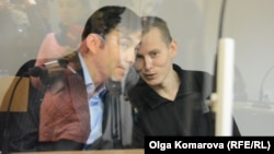 Евгений Ерофеев и Александра Александр в Голосеевском районном суде Киева