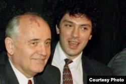 Михаил Горбачев и Борис Немцов