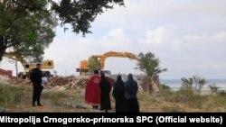 Rušenje nelegalno sagrađenog objekta SPC 10. juna u okolini Ulcinja
