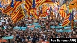 Իսպանիա - Հանրահավաք Կատալոնիայի մայրաքաղաք Բարսելոնայում, 21-ը հոկտեմբերի, 2017թ․
