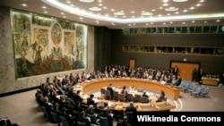 مجلس الأمن التابع للأمم المتحدة في إحدى جلساته في نيويورك