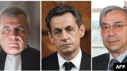 Эрцог (слева), Саркози и Азибер