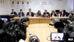 Прес-конференција за апсењата во продолжението на полициската операција Диригент. 09 јануари 2013.