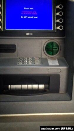 Sandan çykan bankomat. Gökdepe