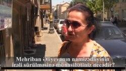 Mehriban Əliyevanın namizədliyinin irəli sürülməsinə münasibətiniz necədir?