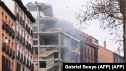 Поврежденное взрывом здание в Мадриде. 20 января 2021 года.