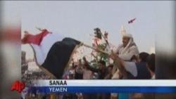 Йеменде президенттің кеткенін тойлап жатыр