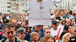 """Франциядагы """"Санитардык диктатурага"""" каршы митинг. 7-август, 2021-жыл."""