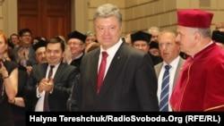 Президент Петро Порошенко в університеті імені Франка у Львові, 2 липня 2015 року
