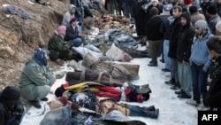 جسد قربانیان حمله هوایی چهارشنبه شب