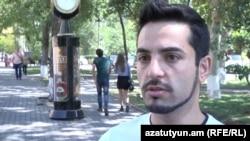 Հայաստան -- «Չե՛ք անցկացնի» նախաձեռնության անդամ Հրայր Մանուկյան, Երևան, 9-ը սեպտեմբերի, 2015թ․