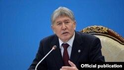 Кыргызстандын президенти Алмазбек Атамбаев. 2017.