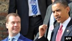 Dmitrij Medvedev i Barak Obama u Pragu početkom aprila 2010, prilikom potpisivanja novog sporazuma START