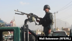 FILE: An Afghan policeman in Kabul.