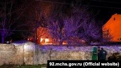 Пожар в Севастополе на улице Ковпака