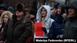Приморцы протестуют против обязательной установки систему ЭРА-ГЛОНАСС. 19 февраля 2017 года.
