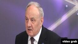 Президент Молдавии Николае Тимофти во время интервью нашей радиостанции