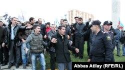 Акция протеста в Баку, 31 октября 2010
