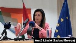 Varga Judit igazságügyminiszter Brüsszelben, 2021. május 11-én
