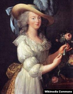 Мария-Антуанетта в муслиновом платье. Портрет работы Элизабет Виже-Лебрен. 1783