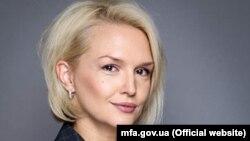 Ekaterina Zelenko, purtătoarea de cuvînt a Ministerului de Externe de la Kiev