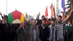 تشييع جثمان أحد المدافعين عن كوباني