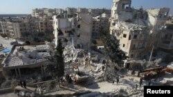 Наслідки бойових дій у сирійському місті Ідліб, ілюстративне фото