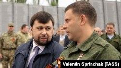 Боевики Денис Пушилин (слева) и Александр Захарченко