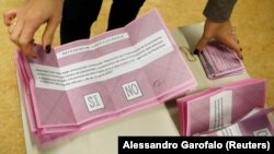 برگههای انتخاب آری یا نه در همهپرسی ۱۴ آذر (چهارم دسامبر ۲۰۱۶) ایتالیا