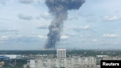 The explosions occurred on June 1 in the town of Dzerzhinsk in central Russia.