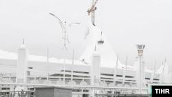 Түркіменстандағы жаңадан салынған олимпиада кешені.