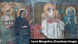 Сюжет «Стрітення» Івана Селезньова у Софійському соборі в Києві