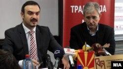 Министерот за економија Ваљон Сарачини на седницата на Македонската енергетска асоцијација.