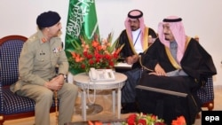 Pakistan's top military commander General Rashad Mahmood met Saudi Crown Prince Salman bin Abdulaziz in February.