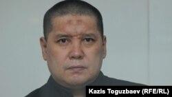 45-летний подсудимый Бактыгали Калдыбеков на процессе в военном суде Алматинского гарнизона по обвинению в пропаганде терроризма. Алматы, 14 июня 2019 года.